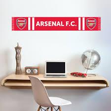 Official Arsenal Football Club Bar Scarf Wall Sticker Decal Vinyl