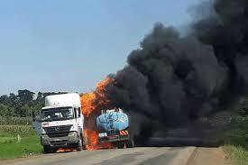 Three injured in Uganda fuel trucks fire - The East African