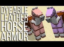 color dyeable leather horse armor