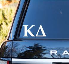 Kappa Delta Car Decal Kappa Delta Car Sticker Kappa Delta Sorority Decal Greek Decals G With Images Alpha Omicron Pi Car Decal Car Decals Sorority Decals