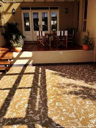 stenciled concrete floor finishes