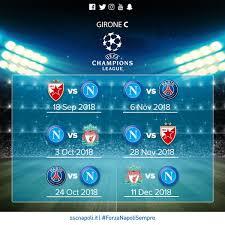 Champions League, Gruppo C: calendario delle partite del Napoli ...