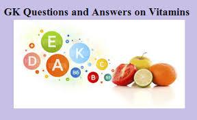 gk quiz on vitamins