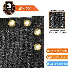 6 X 50 Fence Windscreen Privacy Screen Cover Black Mesh Crosslinks