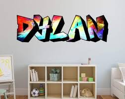 Kids Name Wall Decal Etsy