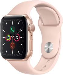 Amazon.com: Apple Watch Series 4 (GPS, 44MM) - Gold Aluminum Case with Pink  Sand Sport Band (Renewed)