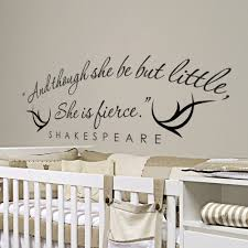 Shakespeare Quote Wall Decal Quotes And Though She Be But Little She Is Fierce Wall Stickers For Kids Rooms Special Decor Syy748 Sticker For Kids Room Wall Stickers For Kidswall Sticker Aliexpress