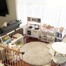 New Living Room Organization With Kids Play Areas Ideas Toy Room Decor Living Room Playroom Baby Playroom