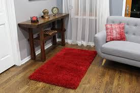 extra dense and plush red rug