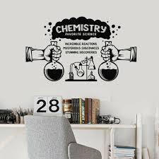 Wall Decal Science Substances Chemistry Lab School Classroom Interior Decor Door Window Vinyl Stickers Lettering Wallpaper E121 Wall Stickers Aliexpress