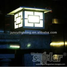 Portable Ce American Style Solar Fence Post Lights With Led Light For Gate Lighting Jr 3018 Series China Manufacturer