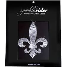 Amazon Com Sparkle Rider Fleur De Lis Rhinestone Decal Stickers Unique Girly Accessory Gift For Her Women S Waterproof Bling Decor For Car Motorcycle Helmet Wall Window Automotive