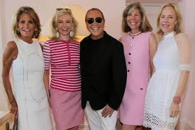Michael Kors Luncheon with Kelly Klein, Aerin Lauder and Hillary Ross at  Waterfront Palm Beach Estate