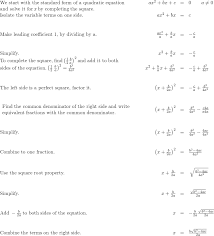 solve quadratic equations using the
