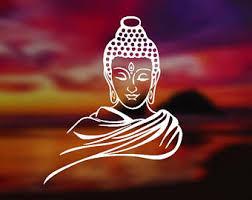 Buddha Car Decal Etsy