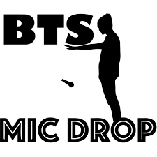 Bts Mic Drop Decal Sticker Bts Mic Drop Decal