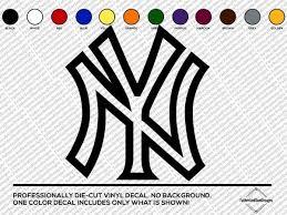 New York Yankees Logo Car Window Truck Laptop Vinyl Decal Sticker Mlb Fan Apparel Souvenirs Sports Fan Apparel Souvenirs Sports Memorabilia