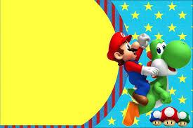 Imprimibles De Super Mario Bros En 2020 Invitaciones De Mario