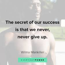 never give up quotes for endless determination