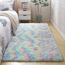Amazon Com Detum Kids Room Rug 5x8 Feet Soft Colorful Fluffy Rug For Girls Bedroom Decor Cute Rainbow Area Rugs For Nursery Room Plush Carpet For Baby Girl Toddler Play Room Kitchen