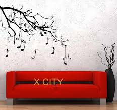 Music Tree Branch Notes Cool Creative Black Wall Art Decal Sticker Removable Vinyl Transfer Stencil Mural Home Room Decor Room Decoration Sticker Removertree Branch Aliexpress
