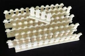 White Fence 1 X 4 X 2 Paled Picket Part 33303 Lego Brick
