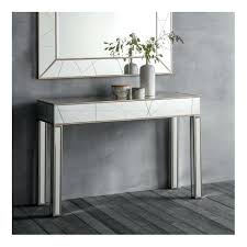 modern console table and mirror