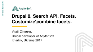 Drupal 8. Search API. Facets. Customize / combine facets