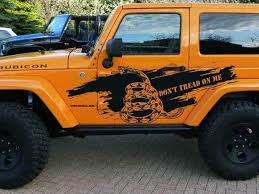 Product Don T Tread On Me Jeep Decal Sticker Mud Splash Side Door Graphics For Wrangler Rubicon Jk 2 Door Vinilos 4x4