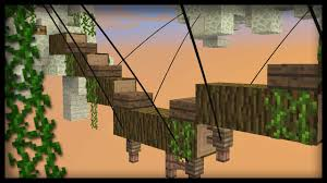 Minecraft How To Build A Rope Bridge Youtube