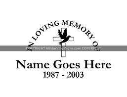 In Loving Memory Of Cross Dove Religious Memorial Vinyl Window Decals In Loving Memory Of Car Truck Stickers