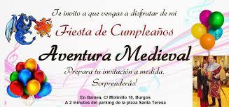 Balnea Escuela De Vida Fiesta De Cumpleanos Medieval En Burgos En Balnea