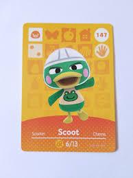 Animal Crossing Amiibo Card Scoot #147 ...