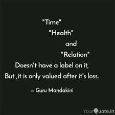 time health quotes writings by guru mandakini yourquote