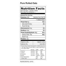 pure rolled oats packaging pouch