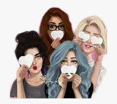 mädchen #girl #bffs #friends #bestfriends #abf #remixit - Friends Cartoon  Girl 4, HD Png Download , Transparent Png Image - PNGitem