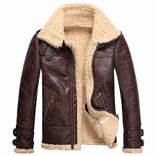 leather lambs fur fleece er flight