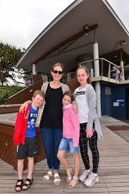 Elizabeth, Lauren, George and Ava Stewart in Mooloolaba enjoying the ... |  Buy Photos Online | Sunshine Coast Daily