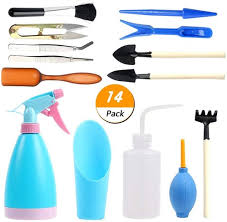 multicolor small gardening hand tools