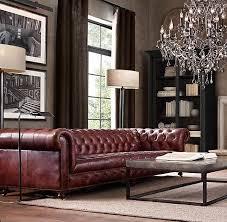 rh s cambridge leather sofa our