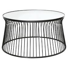 black owens mirrored coffee table