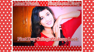 first day college makeup look 2018 no
