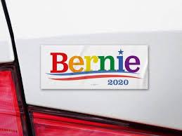 Bernie Sanders President 2020 Rainbow Pride Campaign Bumper Sticker