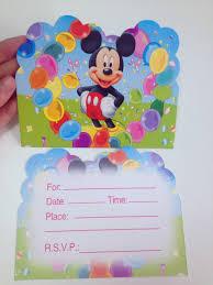 12 Uds Lote Suministros Para Fiesta De Mickey Mouse Tarjeta De