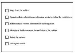 algebraic problem solving checklist