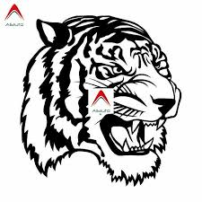 Aliauto Personality Car Sticker Angry Tiger Big Cat Automobile Styling Decal Vinyl Racing Cool Cover Black Silver 15cm 16cm Car Stickers Aliexpress