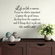 Winston Porter Drakes Life Is Like A Camera Focus On What S Important Capture The Good Times Develop From The Negatives Wall Decal Reviews Wayfair