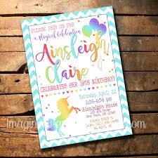 Invitacion Fiesta De Cumpleanos De Unicornio Etsy