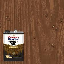 Thompson S Waterseal Penetrating Timber Oil Pre Tinted Mahogany Semi Transparent Exterior Stain And Sealer Gallon In The Exterior Stains Department At Lowes Com