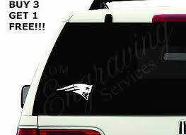 New England Patriots Nfl 5 5 X2 5 Car Window Decal Sticker Truck Laptop Ebay